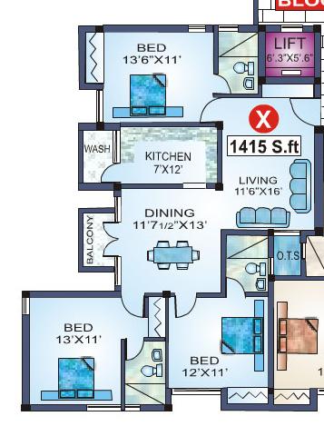 Jamals Grandeur, Chennai - Floor Plan