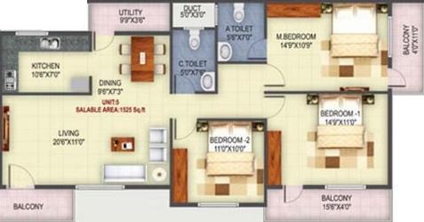 Udbhav Brundavan, Bangalore - Floor Plan