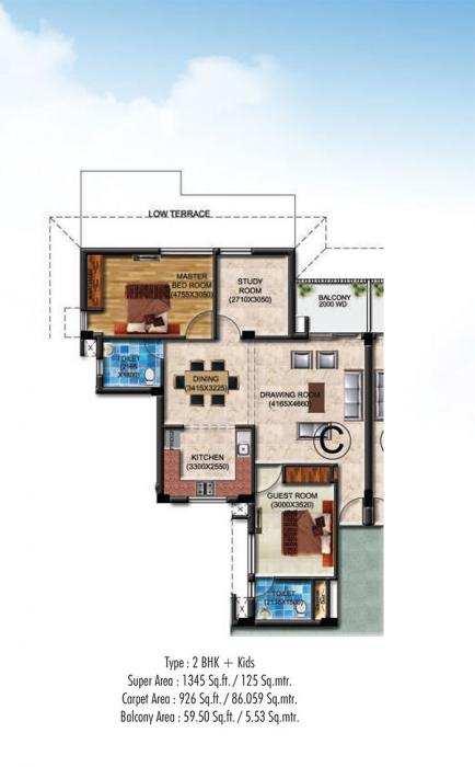 Omega Presidency, Lucknow - Floor Plan