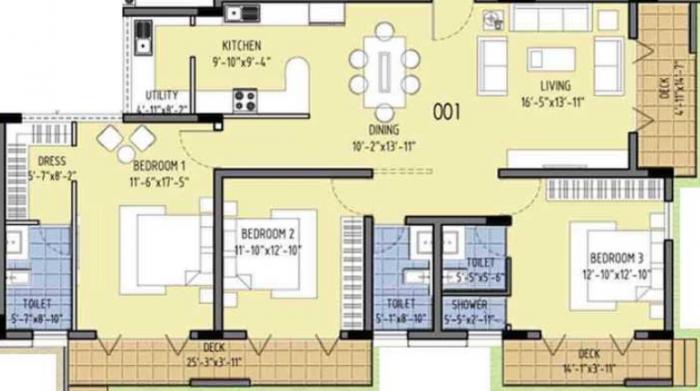 Millennia Grandeur, Bangalore - Floor Plan