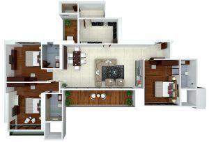 Ajmera Zeon, Mumbai - Floor Plan