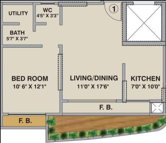 Hubtown Vedant, Mumbai - Floor Plan