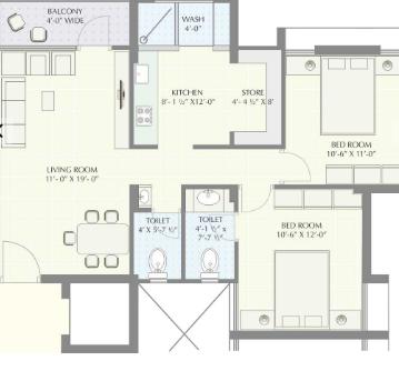 Mangla Greens, Vadodara - Floor Plan