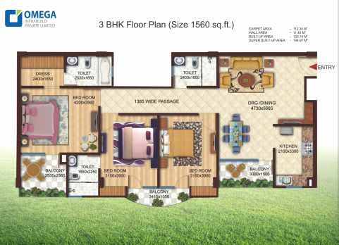 Omega Urban Greens, Lucknow - Floor Plan