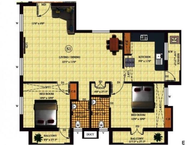 Amudha Elite, Chennai - Floor Plan