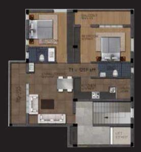 Wind Gates Apartment, Chennai - Floor Plan