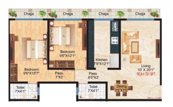 Konark Alpha Residency, Mumbai - Floor Plan