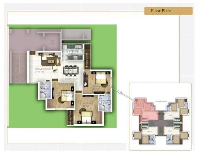 Samiah Melrose Square, Lucknow - Floor Plan