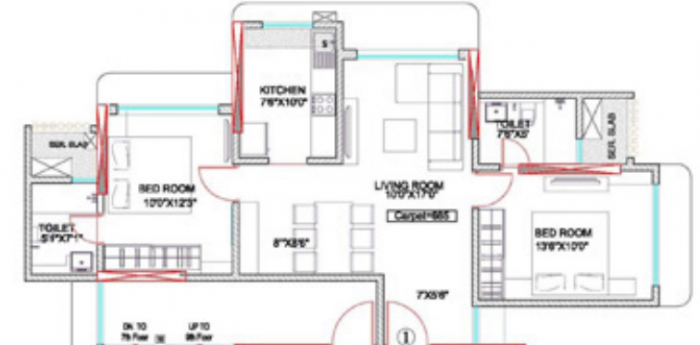 Acropolis Apartment, Mumbai - Floor Plan