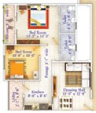 JP Park Radiance, Nagpur - Floor Plan