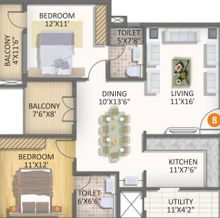 SSVR Tridax, Bangalore - Floor Plan