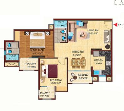 Unnati The Aranya Phase 2, Noida - Floor Plan