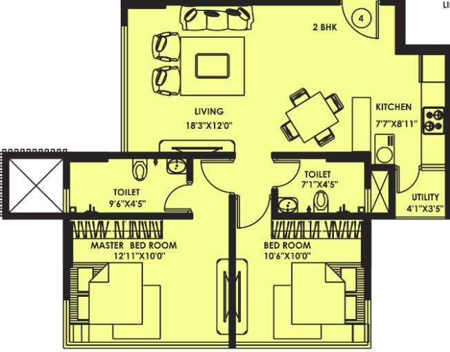 Kanakia Rainforest, Mumbai - Floor Plan
