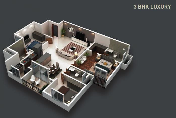 Purva Zenium, Bangalore - Floor Plan