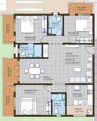 GS LNS Pride, Bangalore - Floor Plan