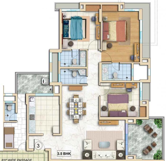TATA Capitol Heights, Nagpur - Floor Plan