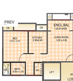 D P Riverside Elegance, Mumbai - Floor Plan