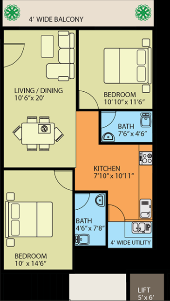 Naksha Hyde Park, Bangalore - Floor Plan