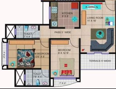 Happy Home Sarvodaya Valley, Mumbai - Floor Plan