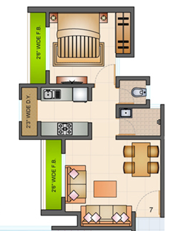 Raunak Bliss, Thane - Floor Plan
