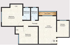 Raunak Unnathi Woods Phase VII, Thane - Floor Plan