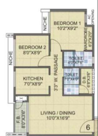 Laxmi Avenue D Global City Ph-II, Mumbai - Floor Plan