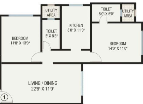 Shubham Solitude, Mumbai - Floor Plan