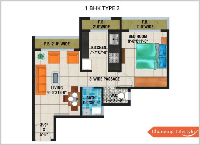 Arihant Aloki, NaviMumbai - Floor Plan