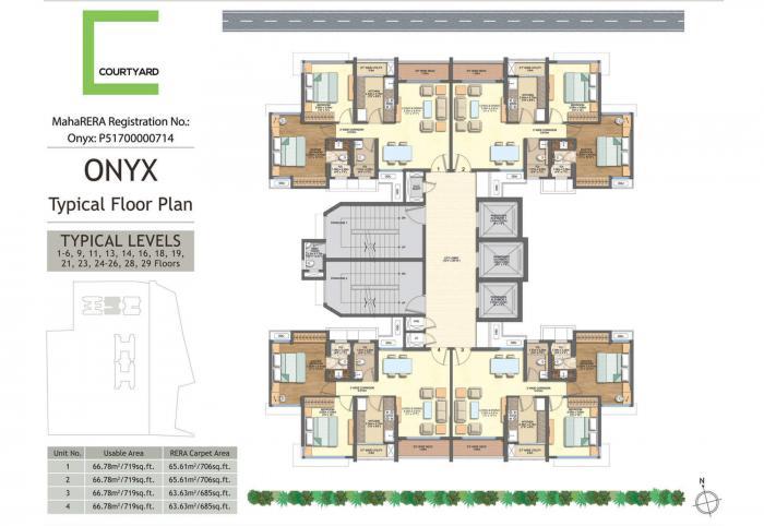 Wadhwa Courtyard Onyx, Thane - Floor Plan
