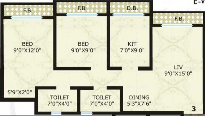 Vinay Unique Heights, Mumbai - Floor Plan