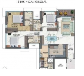 Wadhwa 25 South, Mumbai - Floor Plan