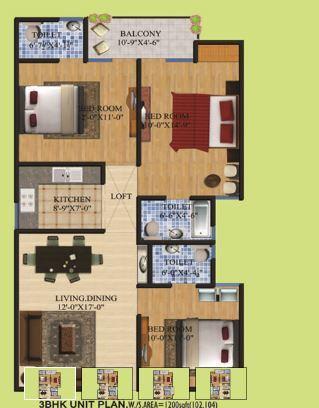 Shri Balaji BCC Awadh Apartment, Lucknow - Floor Plan
