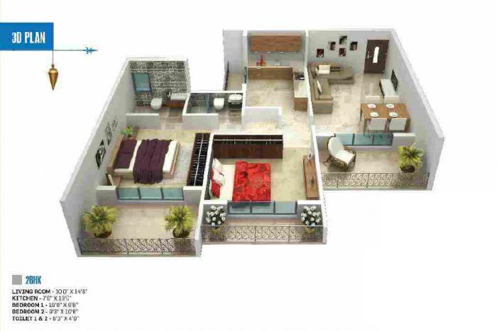 Sai Krupa Valley, Mumbai - Floor Plan