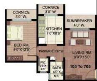 Manohar Vikas Residency, Mumbai - Floor Plan