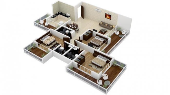 Shreenathji Celestial Heights, Mumbai - Floor Plan