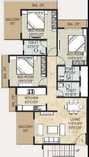 Monarch Solitaire, Thane - Floor Plan