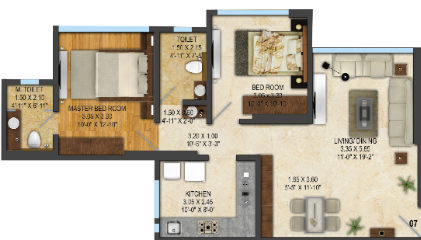 ACME Avenue Wing A, Mumbai - Floor Plan