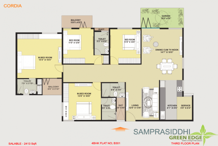 Samprasiddhi Green Edge, Bangalore - Floor Plan