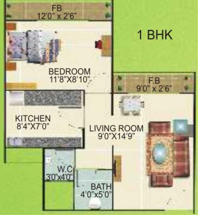 Fortune Belleza, NaviMumbai - Floor Plan