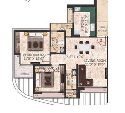 C. Teja Signature, NaviMumbai - Floor Plan