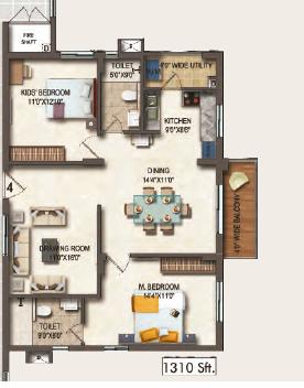 Theme Vista, Hyderabad - Floor Plan