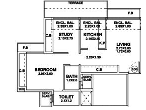 Swaraj Heights, NaviMumbai - Floor Plan