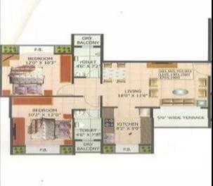 Sonal Gopal Krishna, NaviMumbai - Floor Plan