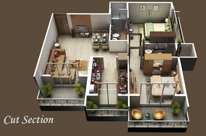 Sahil Siddhivinayak Splendour, NaviMumbai - Floor Plan