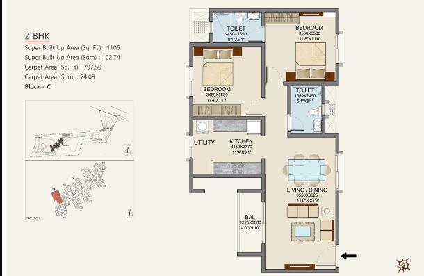 Skylark Dasos, Bangalore - Floor Plan