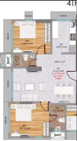 Neumec Niwara, Mumbai - Floor Plan
