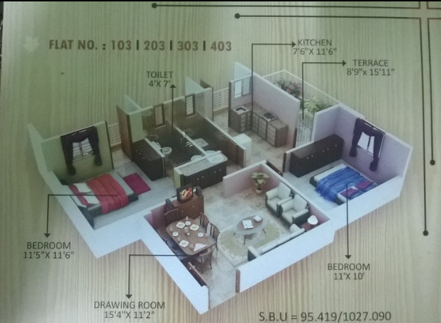 Shanti Maple Enclave Phase I, Nagpur - Floor Plan