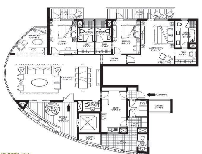 Emaar MGF Palm Drive The Sky Terraces, Gurgaon - Floor Plan