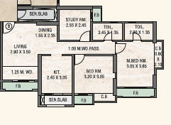 Rosa Oasis Phase 2, Thane - Floor Plan