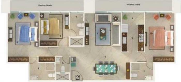Rustomjee Crown Phase I, Mumbai - Floor Plan